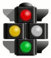 Stoplight with a grey light